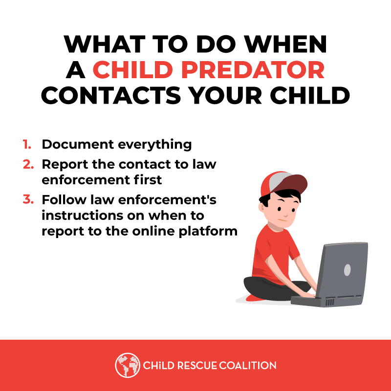 With so many kids online during distance learning, so are child predators. Here's what to do if your child is contacted by a child predator.