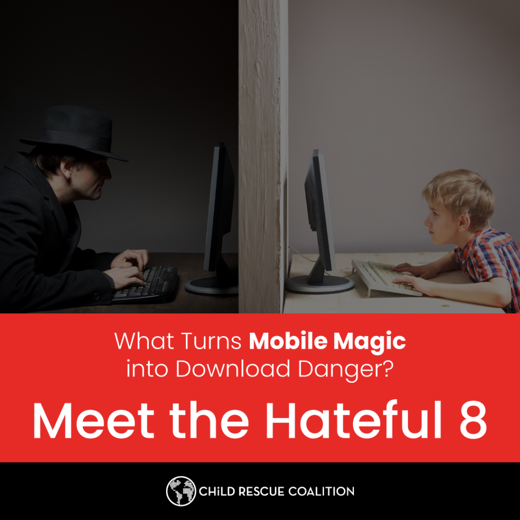 Apps are helpful, can educate or entertain, but they are also full of child predators. Learn about apps hateful 8, and how to keep kids safe.