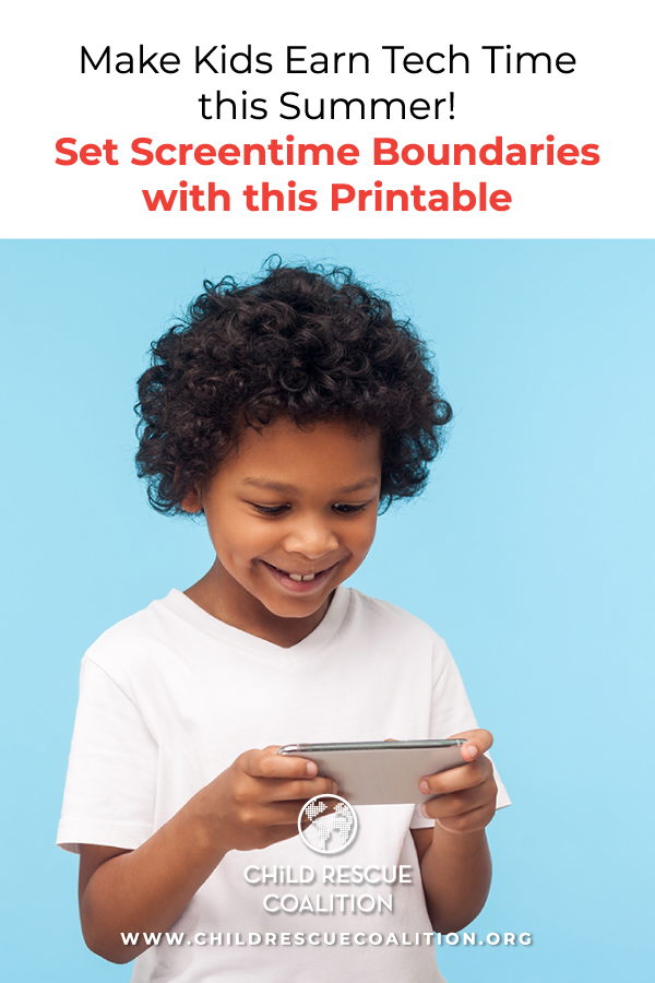 Make kids earn screen time this summer with this free printable. Set boundaries, create guidelines, and have fun!