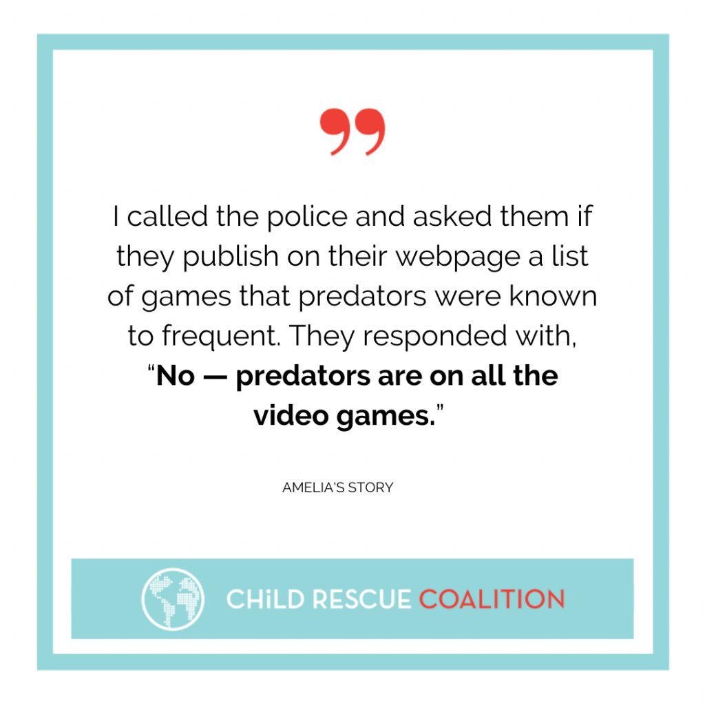 """""""Amelia's"""" mom thought she was protecting her child, but a predator still found her through a video game. Read her story now."""